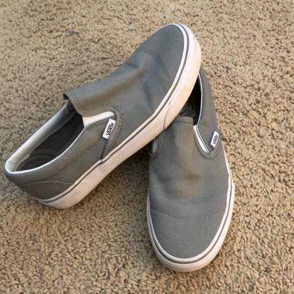 Vans Shoes | Vans Slip On Dove Grey